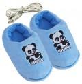 USB熊貓暖腳鞋