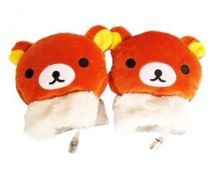新款USB卡通小熊保暖手套