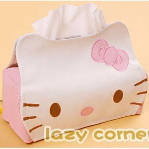 hello kitty皮革面紙盒
