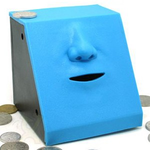 日本 FACE BANK 貯金箱-存錢筒-口鼻版