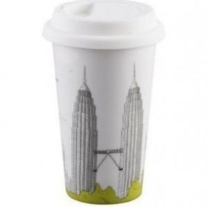 BELLA HOUSE 環保雙層陶瓷隔熱杯 -  馬來西亞雙子塔