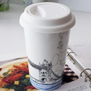 BELLA HOUSE 環保雙層陶瓷隔熱杯 -  英國倫敦大橋