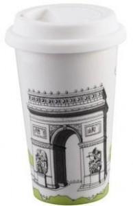 BELLA HOUSE 環保雙層陶瓷隔熱杯 -  法國凱旋門