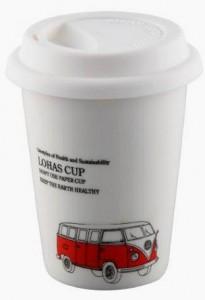 BELLA HOUSE 環保雙層陶瓷隔熱杯 - 紅色公車