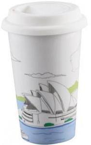 BELLA HOUSE 環保雙層陶瓷隔熱杯 - 雪梨歌劇院