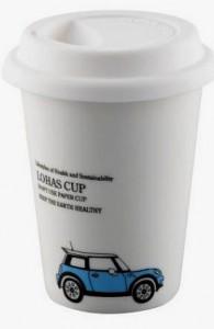 BELLA HOUSE 環保雙層陶瓷隔熱杯 - 藍色吉普