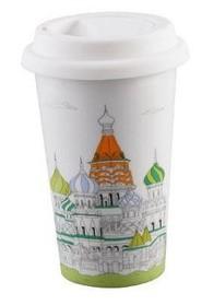 BELLA HOUSE 環保雙層陶瓷隔熱杯 - 聖瓦西里教堂