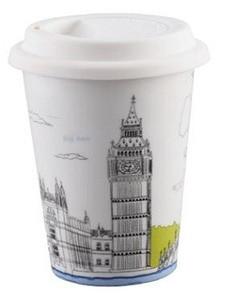 BELLA HOUSE 環保雙層陶瓷隔熱杯 - 英國大本鐘
