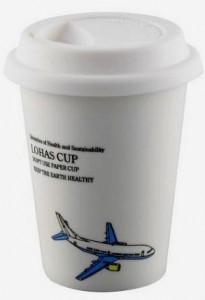 BELLA HOUSE 環保雙層陶瓷隔熱杯 - 飛機