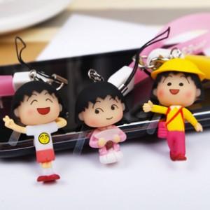 櫻桃小丸子手機吊飾